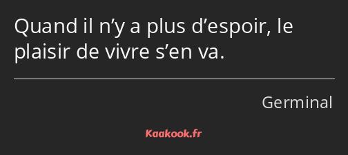 Citation Quand Il N Y A Plus D Espoir Le Plaisir De
