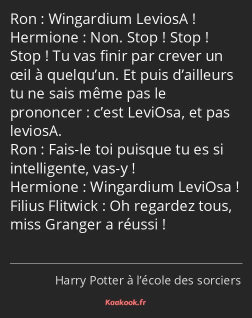Citation Wingardium Leviosa Non Stop Stop Stop
