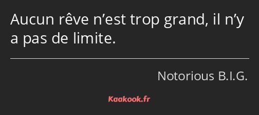 Citation Aucun Rêve N Est Trop Grand Il N Y A Pas De
