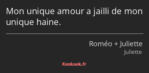 citation amour unique