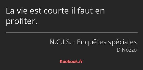Citation La Vie Est Courte Il Faut En Profiter Kaakook