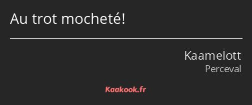 Citation Au Trot Mocheté Kaakook