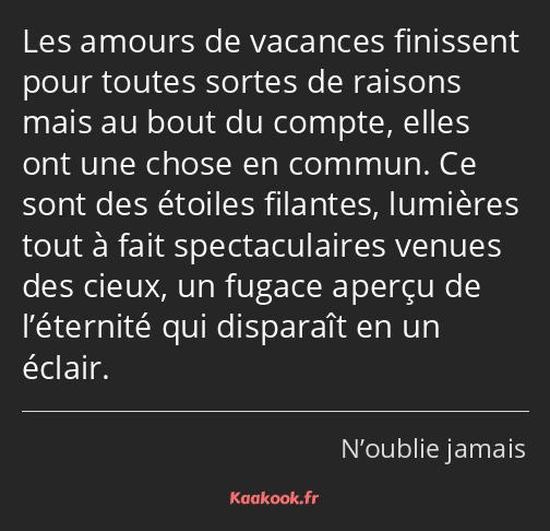 Citation Les Amours De Vacances Finissent Pour Toutes