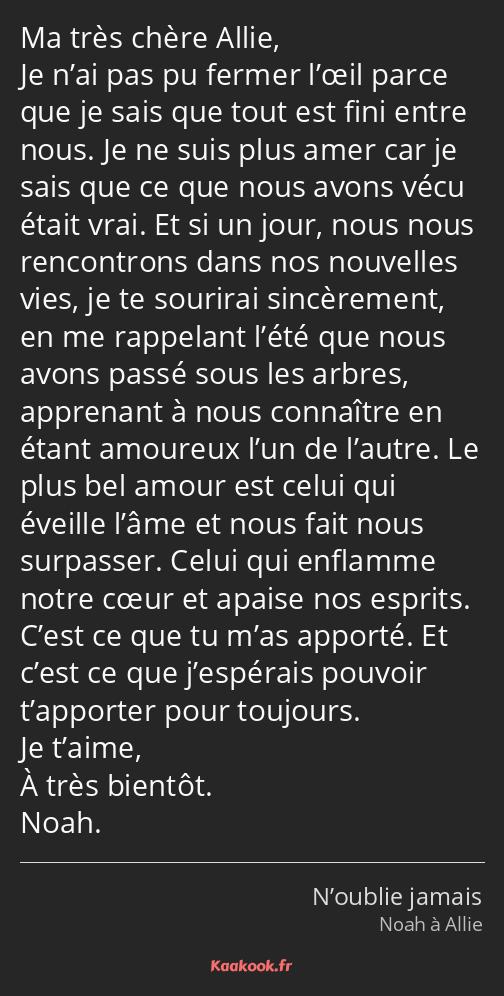 Citation Ma Très Chère Allie Je N Ai Pas Pu Fermer